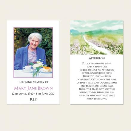 Funeral Memorial Cards - Beautiful Landscape