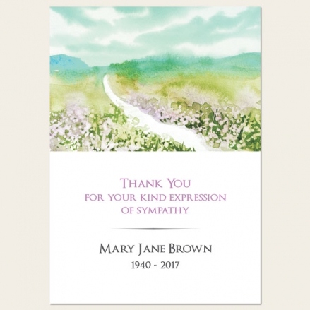 Funeral Thank You Cards - Beautiful Landscape