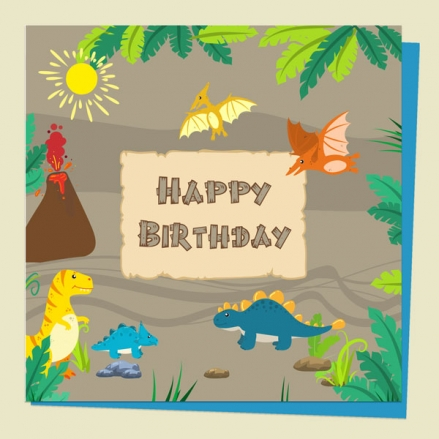 kids-birthday-card-dinosaur-world