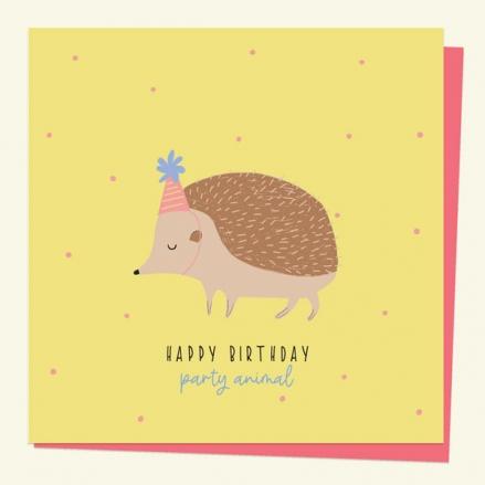 general-birthday-card-party-animal-hedgehog