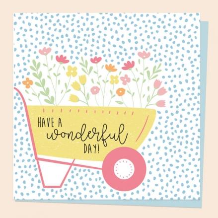 general-birthday-card-paper-petals-wheelbarrow
