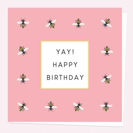 General-Birthday-Card-Pink-Bee-Yay!-Happy-Birthday