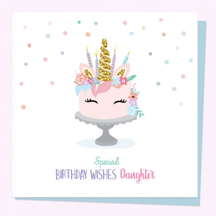 daughter-birthday-cards-unicorn-cake-special-wishes