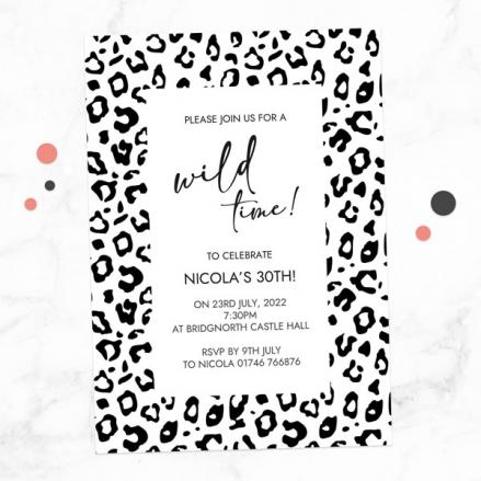 30th-birthday-invitations-black-leopard-print