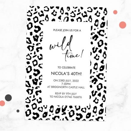 40th-birthday-invitations-black-leopard-print