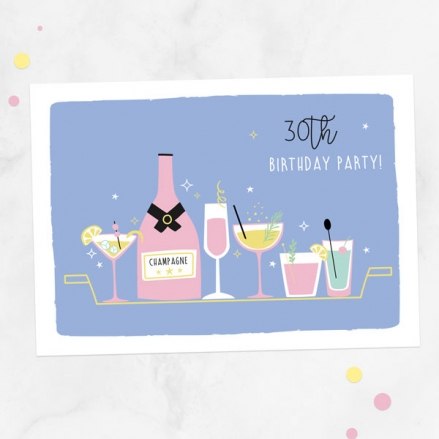 30th-birthday-invitations-cocktail-time