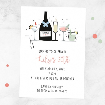 30th-birthday-invitations-happy-hour-cocktails