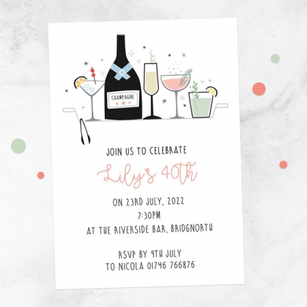 40th-birthday-invitations-happy-hour-cocktails