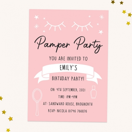 Kids-Birthday-Invitations-Beauty-Pamper-Party