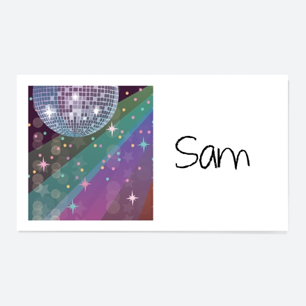 Glitter Ball Disco Party Party Sticker thumbnail