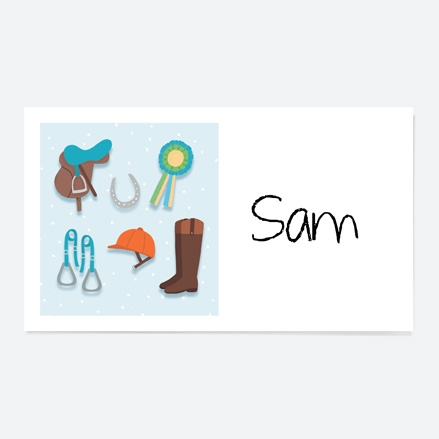Horse Riding Equestrian Party Sticker thumbnail