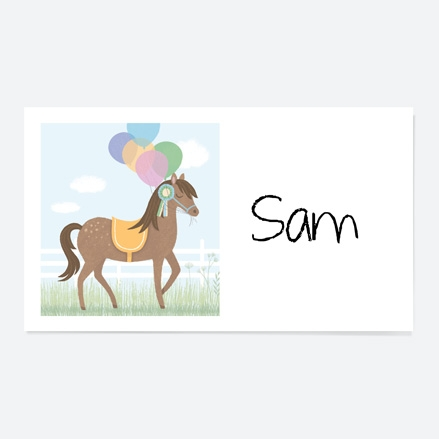 Horse Riding Stables Party Sticker thumbnail