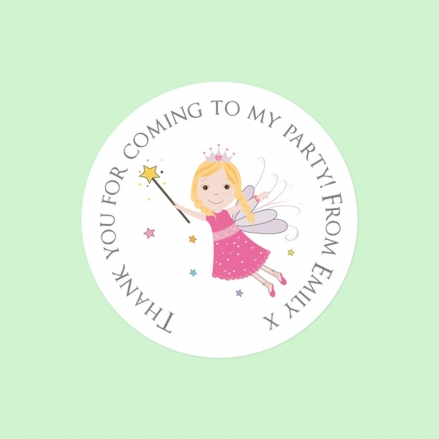 Birthday Fairy - Sweet Cone Stickers - Pack of 35