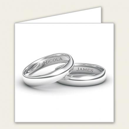 Add Your Names Silver Rings - Wedding Menus