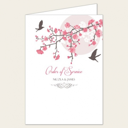 Blossoming Love - Wedding Order of Service
