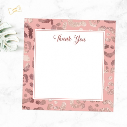 Ready to Write Thank You Cards - Blush Leopard Print