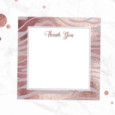 Ready to Write Thank You Cards - Blush Tiger Print