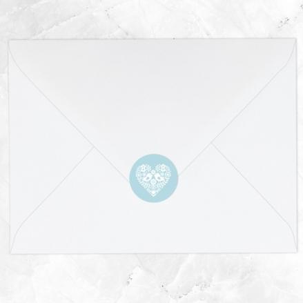 Bohemian Love Birds - Wedding Envelope Seals
