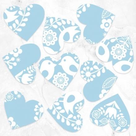 Bohemian Love Birds - Heart Table Confetti