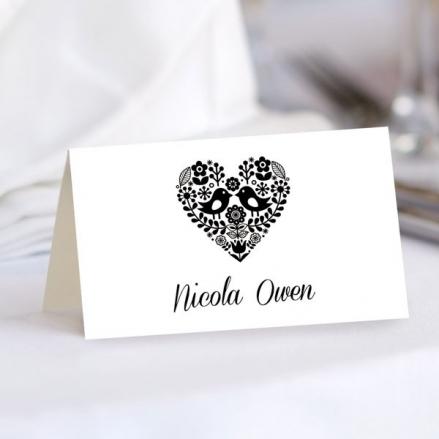 Bohemian Love Birds - Wedding Place Cards