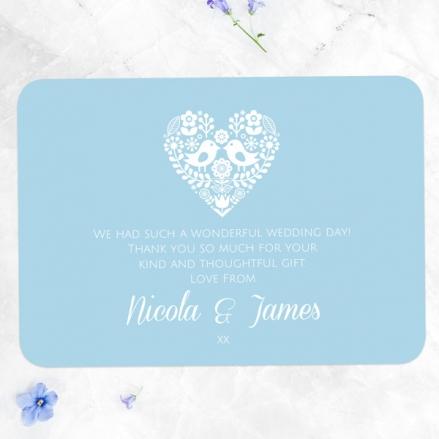 Bohemian Love Birds - Wedding Thank You Cards