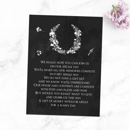 Boho Chalkboard Flowers - Gift Poem Cards