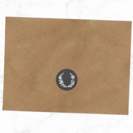 Boho Chalkboard Flowers - Wedding Envelope Seals