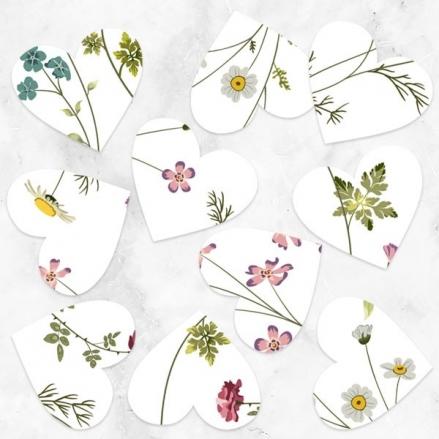Botanical Heart - Heart Table Confetti