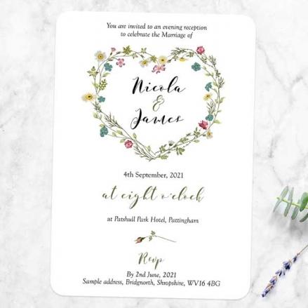 Botanical Heart - Evening Invitations