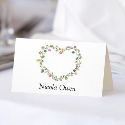 Botanical Heart - Wedding Place Cards