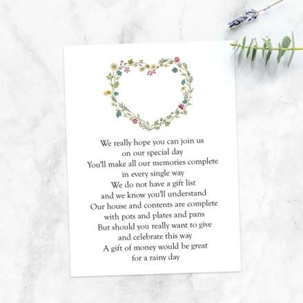 Botanical Heart - Gift Poem Cards