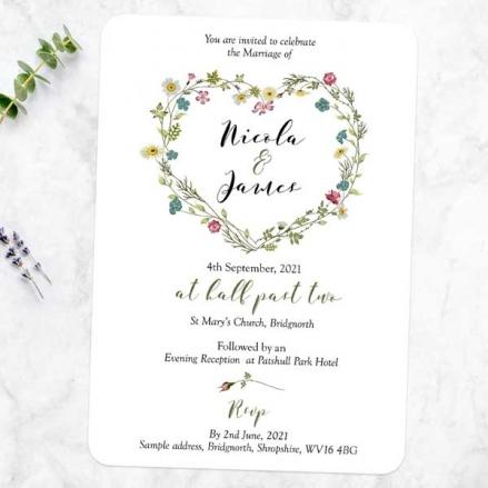 Botanical Heart - Wedding Invitations