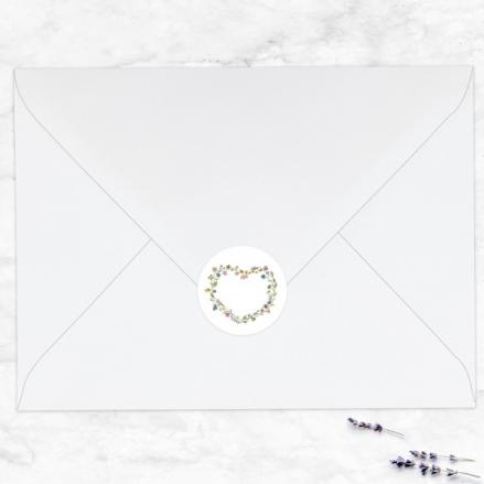 Botanical Heart - Wedding Envelope Seals