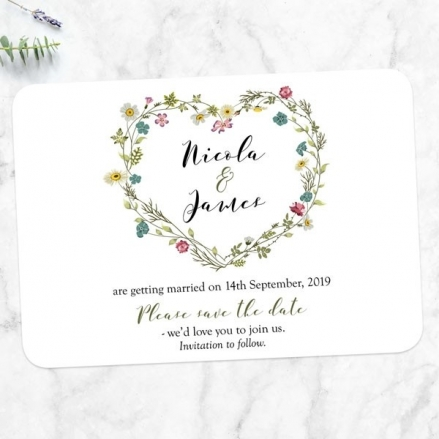 Botanical Heart - Save the Date Cards