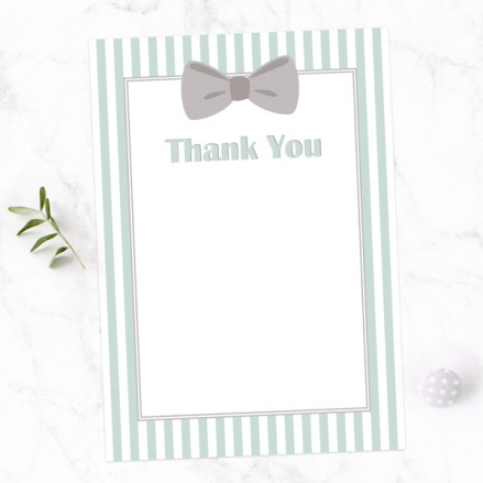 Thank You Cards - Bow Tie Stripes - Pack of 10