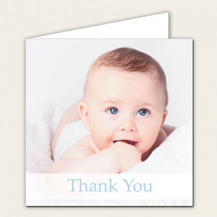 Thank You - Use Own Photo Boys  - Pack of 10