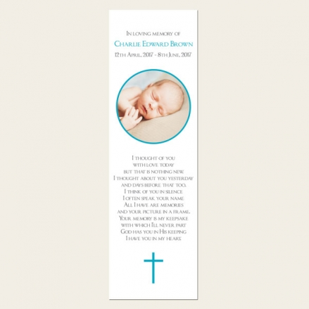Funeral Bookmark - Boys Traditional Photo
