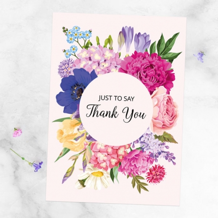 Ready to Write Thank You Cards - Bright Summer Flowers - Pack of 10