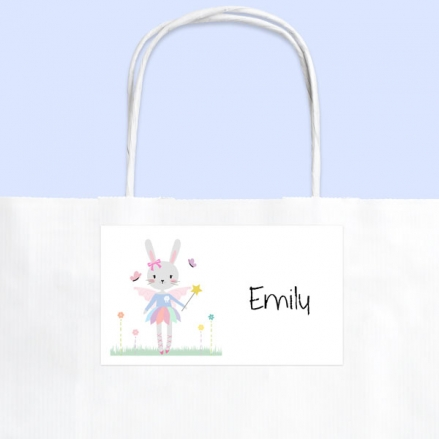 Bunny Tutu - Party Bag & Sticker - Pack of 10