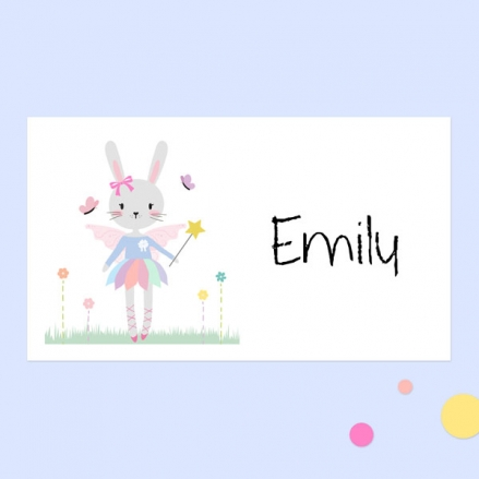 Bunny Tutu - Party Sticker - Pack of 10