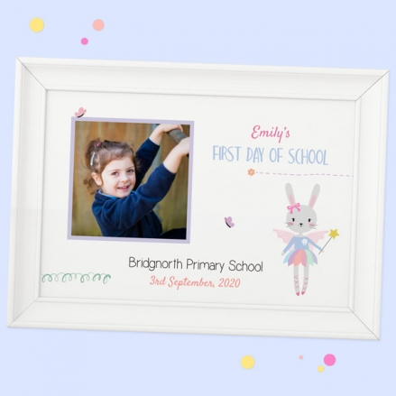 Personalised My First Day Print - Bunny Tutu