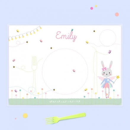 Personalised Kids Placemat - Bunny Tutu