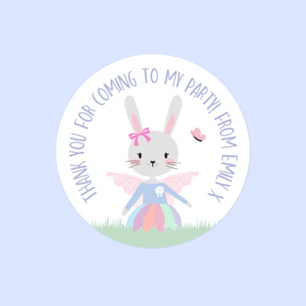 Bunny Tutu - Sweet Cone Stickers - Pack of 35