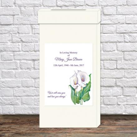 Funeral Post Box - Calla Lilies