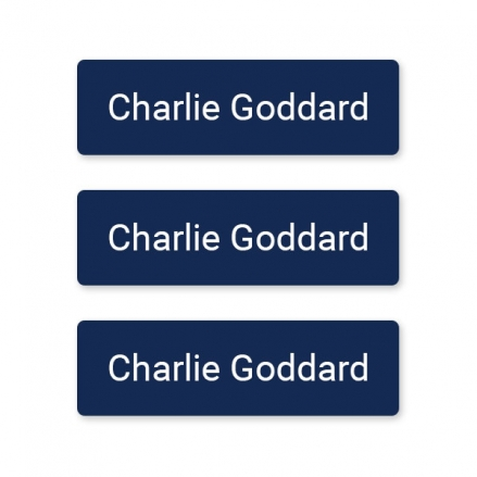 Care Home - Small Personalised Stick On Waterproof (Equipment) Name Labels - Navy - Pack of 60
