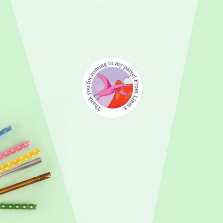 Cartoon Dinosaurs - Sweet Cone Bag & Sticker - Pack of 35