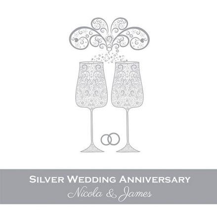 25th Wedding Anniversary Invitations - Celebrate With Us