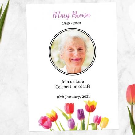 Funeral-Celebration-of-Life-Invitations-Bright-Tulips-Photo