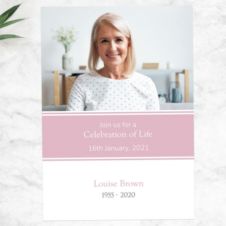 Funeral-Celebration-of-Life-Invitations-Female-Modern-Photo-Collage