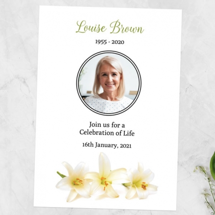 Funeral-Celebration-of-Life-Invitations-White-Lilies-Photo